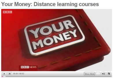 BBC Your Money report on distance learning course complaints
